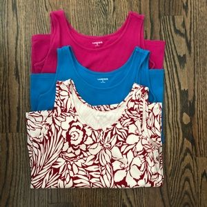 Lot of 3 Lands' End tank tops